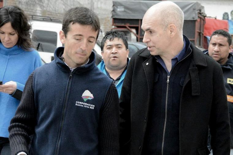 Garzón ocupante ilegal de la titularidad del AFSCA y el Jefe de Gobierno de la Ciudad Autónoma de Buenos Aires Horacio Rodríguez Larreta.