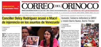 REGIÓN – Mercosur | Primer papelón internacional de Macri. La canciller venezolana lo humilló.