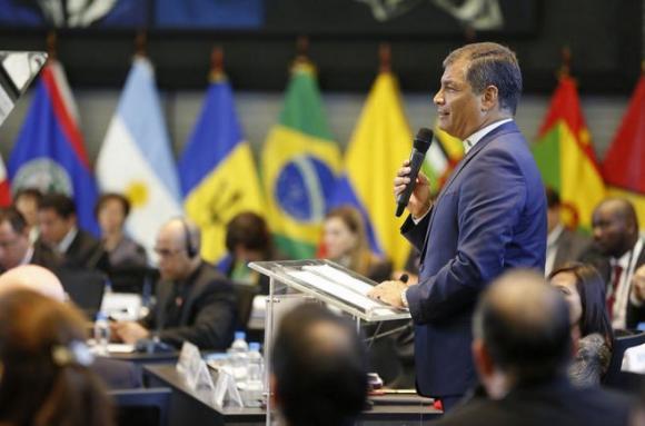 El Presidente Correa en la Cumbre de la CELAC.