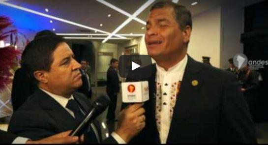 Rafael Correa, Presidente de Ecuador y anftrión de la IV Cumbre de la CELAC. FOTO: Cancillería Ecuador