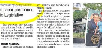 REGIÓN – Venezuela   Diputado derechista ordena sacar imágenes de Bolívar en la Asamblea Nacional.