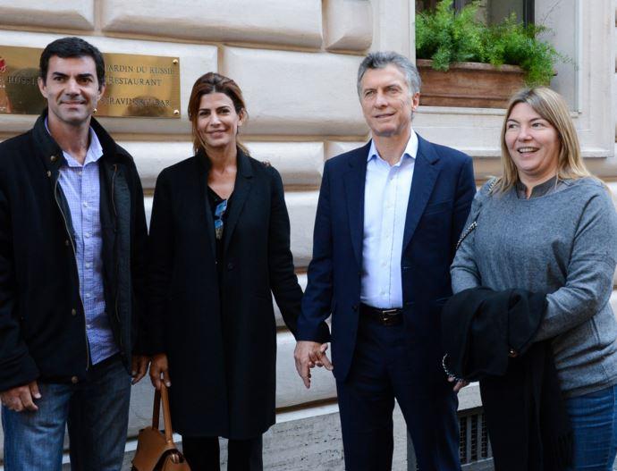Urtubey, Awada, Macri y Bertone (a la derecha).