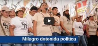 PRESA POLÍTICA – Régimen | Milagro Sala lleva detenida más de 100 días por la persecución del macrista Gerardo Morales.