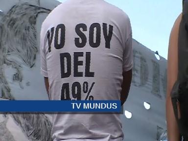 El acto fue claramente opositor al gobierno negacionista de Mauricio Macri. FOTO: TV MUNDUS.