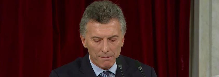 Los 45 minutos fueron de gran esfuerzo para el Presidente Macri. Fue su discurso más largo desde que empezó su carrera en Boca Juniors.