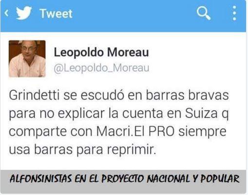 Leopoldo Moreau denunció la agresión de Grindetti del PRO a los vecinos.