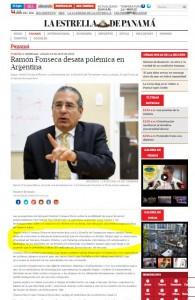 El diario panameño acusó a Lanata de trabajar para NML de Singer.