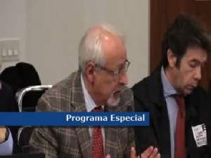 El periodista Horacio Verbitsky en la Comisión Interamericana de Derechos Humanos.