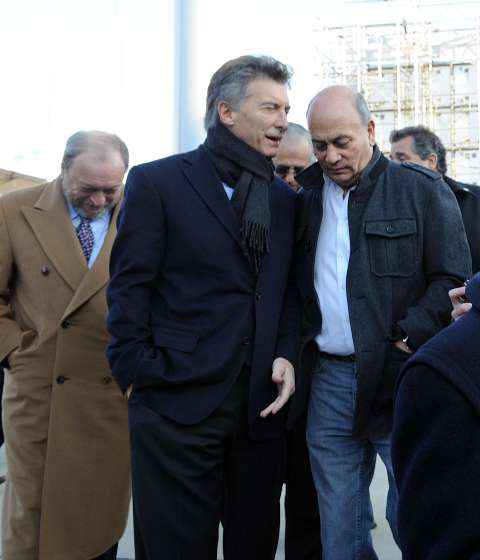 Macri conversando con su aliado Venegas.