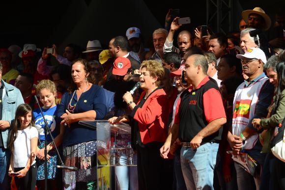 Dilma Rousseff recibió un claro apoyo de la clase trabajadora en Río de Janeiro. FOTO: AGENCIA BRASIL.