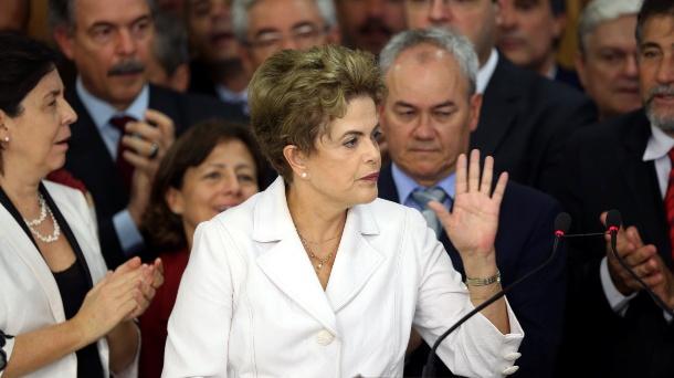 Dilma Rousseff tras el Golpe de Estado.