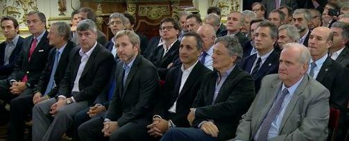 Empresarios amigos de Macri. Pagani y el Ministro Cabrera. FOTO: CASA ROSADA