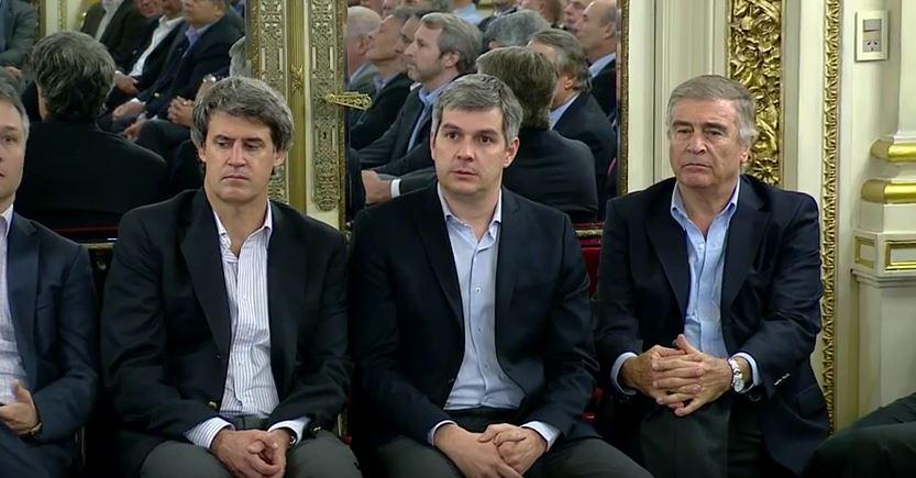 El gabinete nacional del macrismo perdió el rumbo y sus caras lo demuestran. FOTO: CASA ROSADA