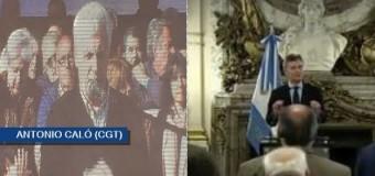 TRABAJADORES – Règimen | Macri insultó a los dirigentes gremiales en la Casa Rosada.