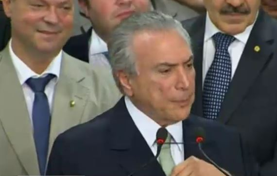 MIchel Temer. Presidente golpista en Brasil.