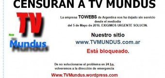 ¿TOWEBS censura a TV Mundus?