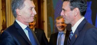 REGIÓN – Régimen | Macri recibió al golpista venezolano Hernán Capriles.