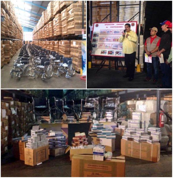 El Presidente Maduro y los bienes que el Estado bolivariano compra para la población.