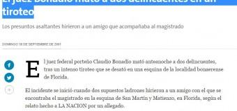 ASESINO – Régimen | BONADÍO. El juez macrista que mató a dos personas.