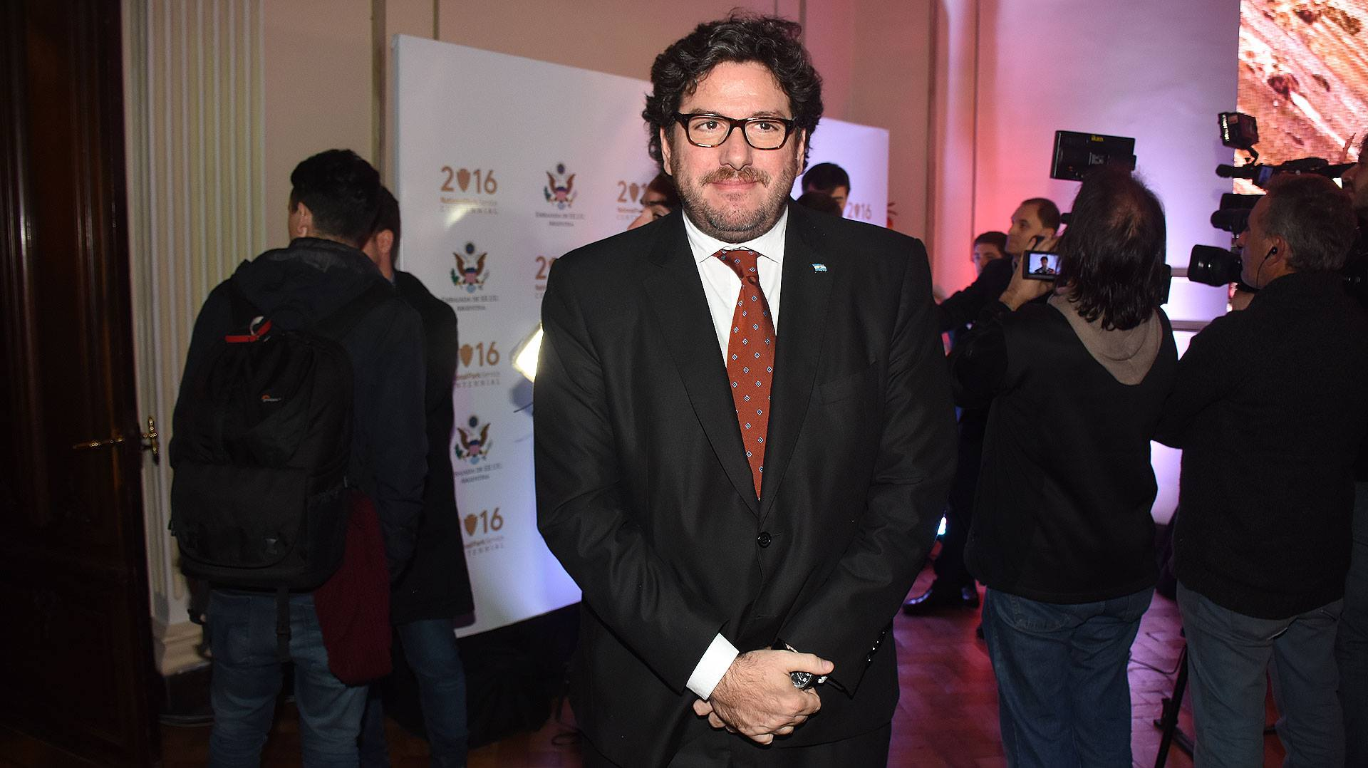 Pablo Avelluto, Ministro de Cultura de la Nación en la Embajada de Estados Unidos.