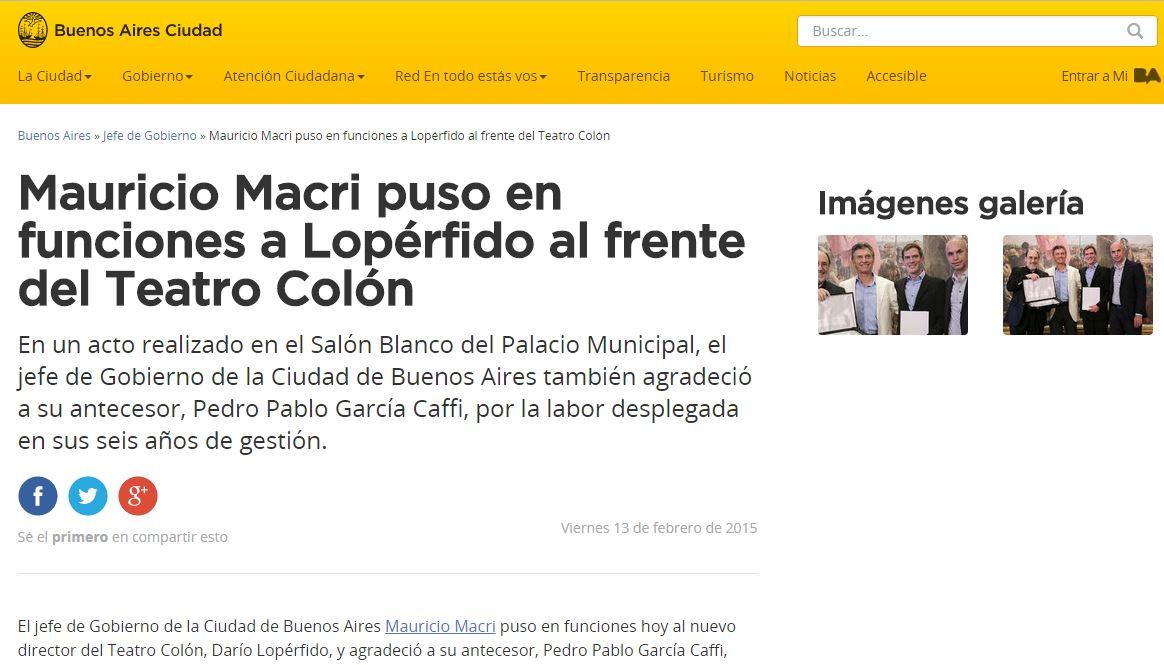 El negacionista Darío Lopérfido entró en funciones hace dos años de la mano de Mauricio Macri.