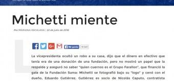 CORRUPCIÓN – Régimen | Marta Michetti complicada por declaraciones de su empleada.