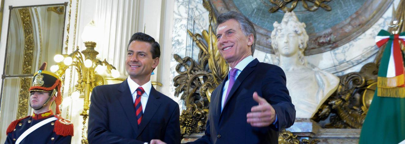 Mauricio Macri recibió en la Casa Rosada a su par Enrique Peña Nieto, acusado de frecuentes violaciones a los Derechos Humanos.