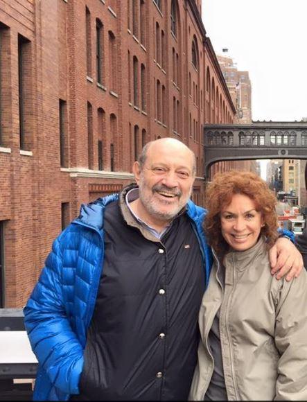 Alfredo Leucovich junto a su novia Cecilia Brook. Empleada del Senado trabaja para la Fundación SUMA de Marta Michetti.