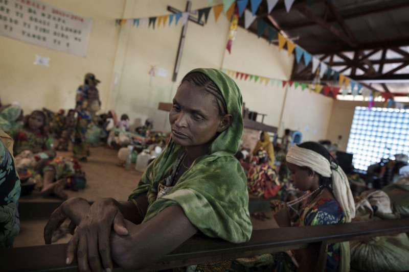 Refugiados en la República Centroafricana, donde se produjeron los abusos sexuales a menores a manos de los soldados de la ONU.