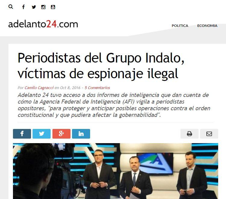 La noticia fue una primicia del sitio web Adelanto 24.com.