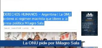 TV MUNDUS – Noticias 221 | La ONU pidió por Milagro Sala