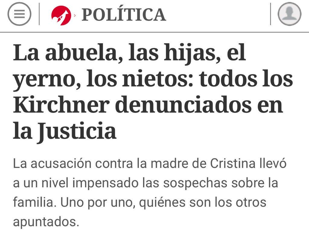 El diario oficialista Clarín apoya la venganza y persecución contra la líder peronista.