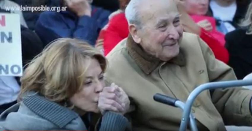 Lidia Papaleo y Rafael Iannover en el acto.