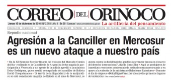 REGIÓN – Mercosur | ESCÁNDALO INTERNACIONAL. POLICÍA MACRISTA AGREDE A CANCILLER DE VENEZUELA.
