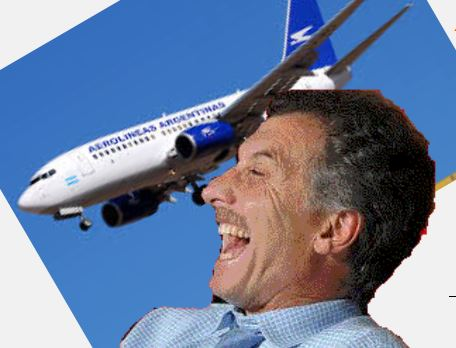 Macri pretende privatizar Aerolíneas Argentinas.