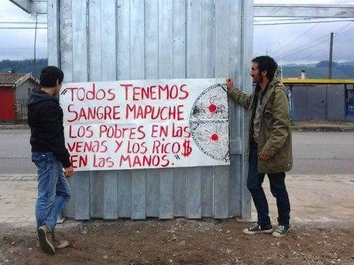 Cartel con frase más que explícita dirigida a los gobiernos de Mauricio Macri y Mario Das Neves.