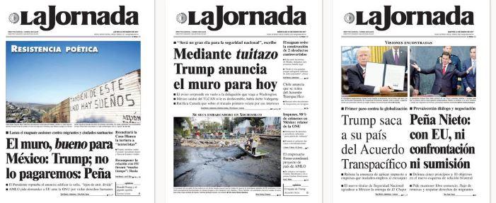 La Jornada, principal diario mexicano no sale de su sorpresa ante los ataques norteamericanos.