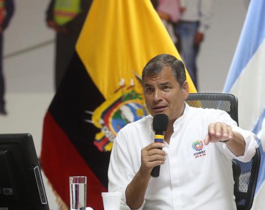 Presidente Rafael Correa de Ecuador. FOTO: ANDES