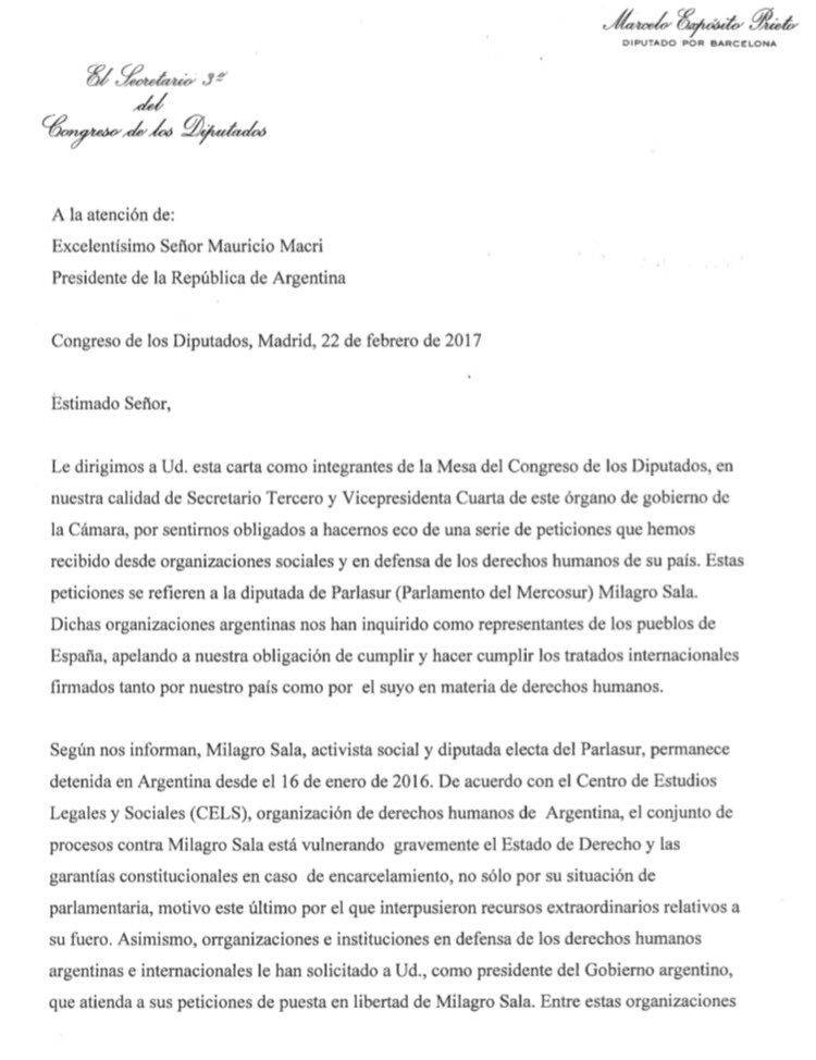 Macri_España_CartaaMacri
