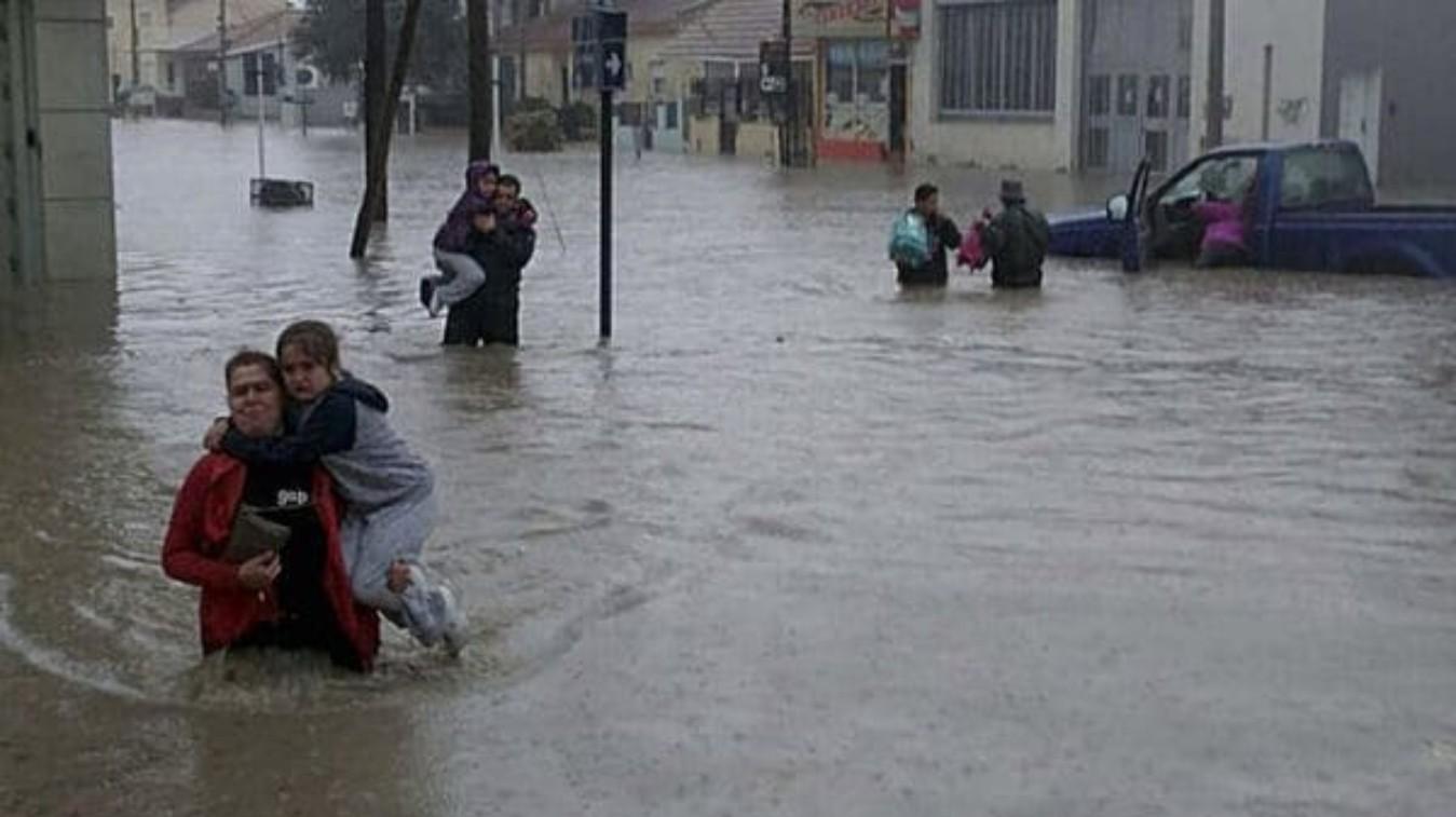 Comodoro Rivadavia sufrió una de las peores tormentas de su historia. FOTO: VOCES ESCRITAS.