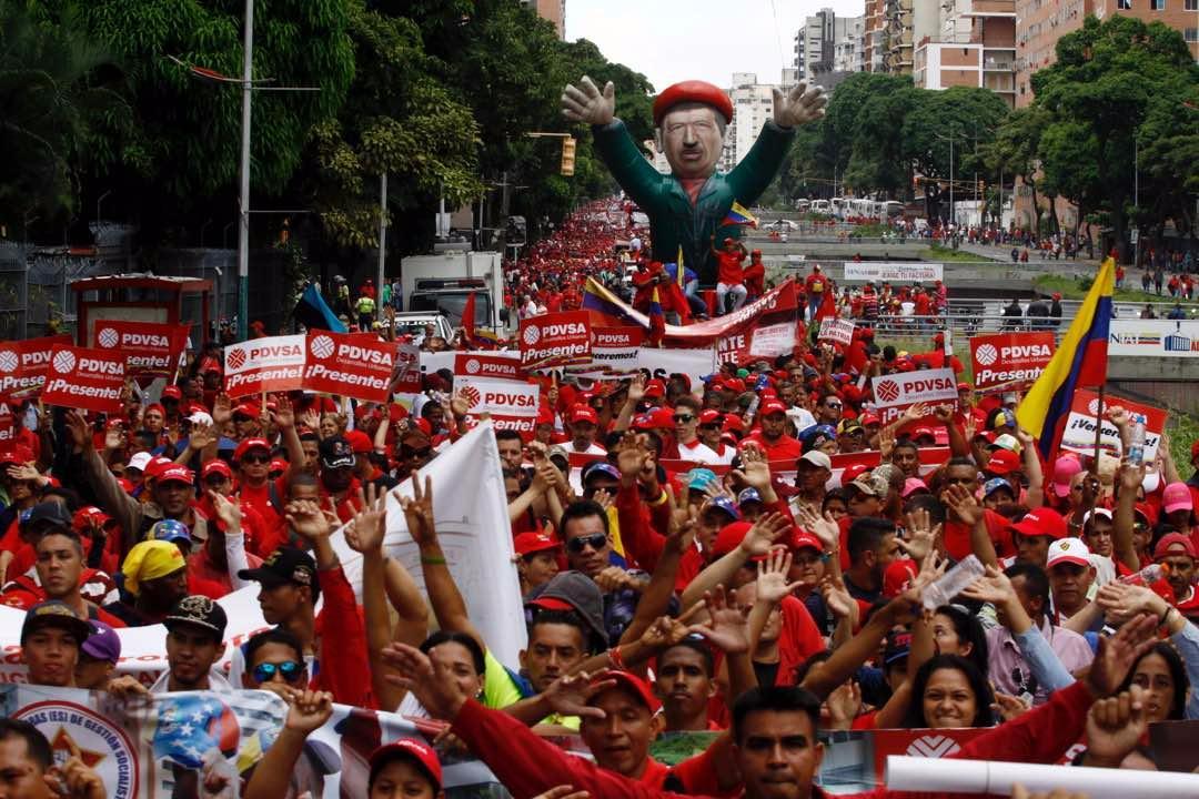 En Venezuela los trabajadores dieron un contundente apoyo a la Revolución.
