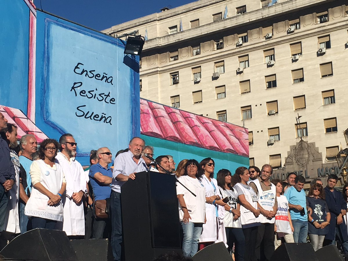 El de las CTAs fue el más convocante de los cinco actos convocados con motivo del Día Internacional del Trabajador.