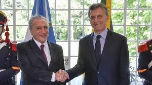 El golpista brasileño Michel Temer es un estrecho amigo de Mauricio Macri, titular del régimen argentino.