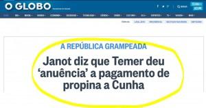 El diario O Globo rompió su alianza con el gobierno golpista y ahora lo denuncia.