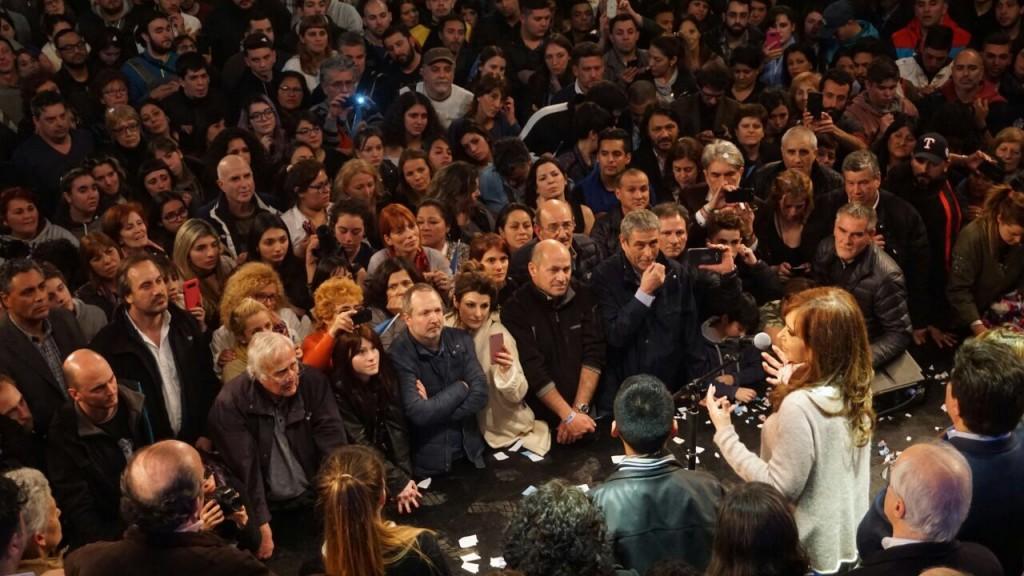 Cristina Fernández cuando ya se sabía que había triunfado.