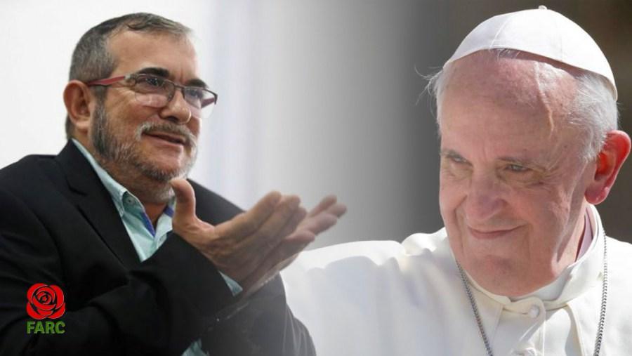 Rodrigo Londoño, líder del Partido FARC en su carta al Papa romano Francisco.