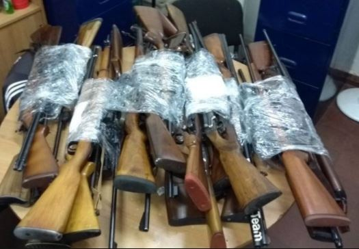Armas encontradas en la vivienda del apoderado de la lista del macrismo en Malvinas Argentinas.