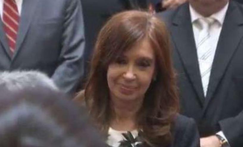 Cristina Fernández en el Senado Nacional.