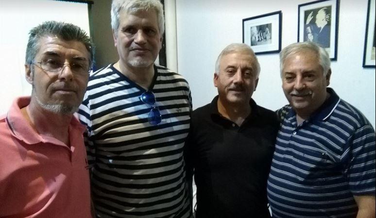 Sayus, Lettieri y otros integrantes de la movida político-cultural del Partido de San Miguel. (FOTO: SAYUS)