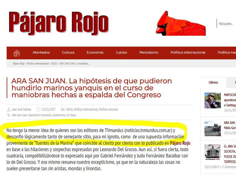 Nota despreciativa del blog de Juan Salinas hacia TV Mundus.
